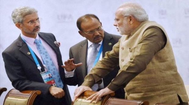 Image result for pics of ajit doval and k. jaishankar with modi